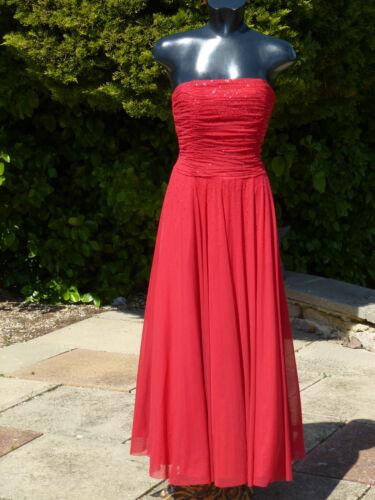 Monsoon de perles maxi Nafisa Robe 12 sans avec sequins satin en manches et rouge mariage 7H7rqPg