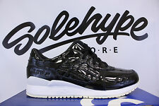 ASICS GEL LYTE III 3 PATENT LEATHER BLACK H7H1L 9090 SZ 13