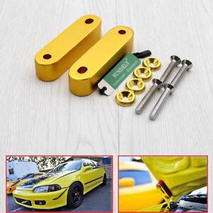 Billet-Hood-Vent-Spacer-Risers-For-Integra-90-00-Civic-88-00-Hood-Risers-Golden