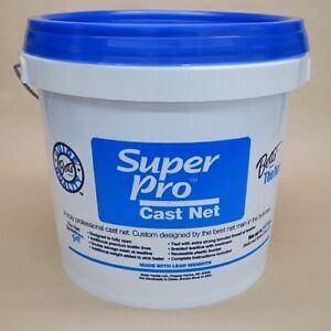 Betts-Super-Pro-8-039-Cast-Net-1-4-034-Mesh-Bait-Casting-Model-24-8