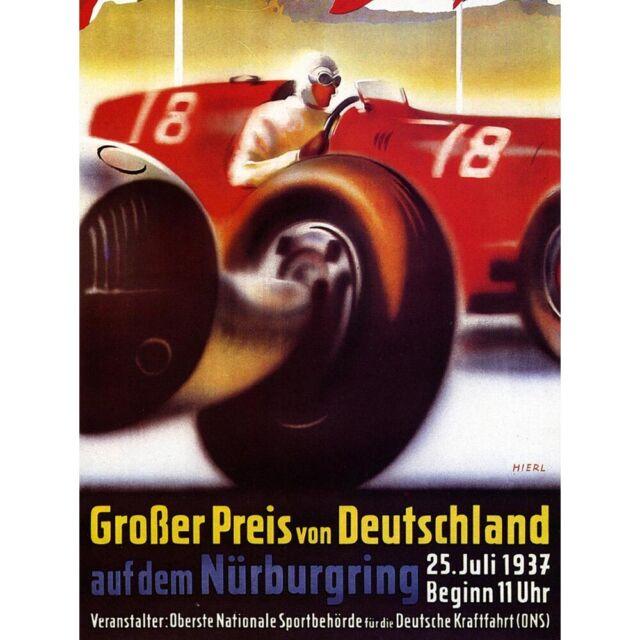 1958 Monaco Grand Prix Vintage Art Silk Poster 12x18 24x36 inches