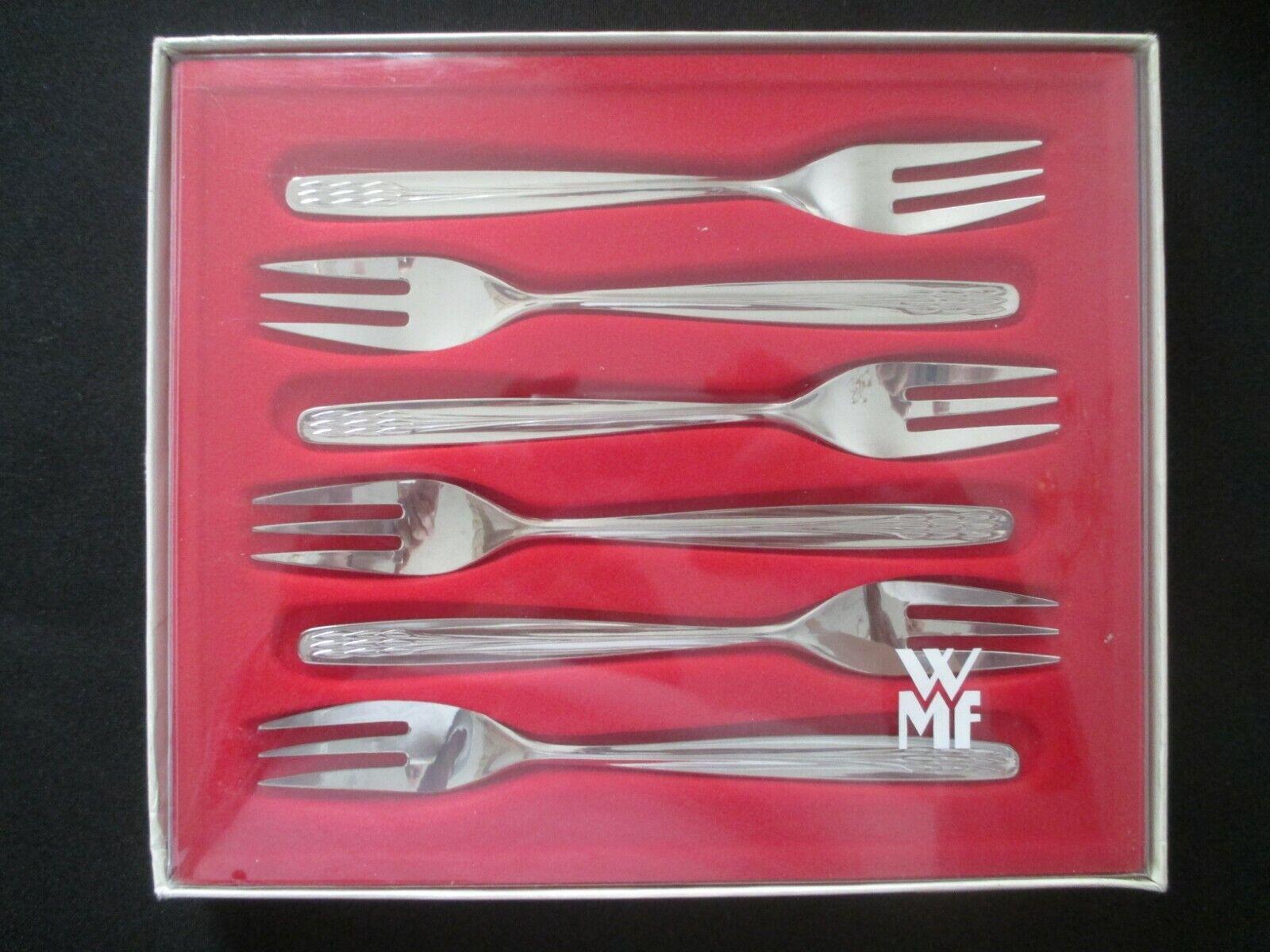 WMF Séville 6 Gateau fourchette Cromargan 6 pièces 15,8 cm Note 1 fourche cakefork NEUF