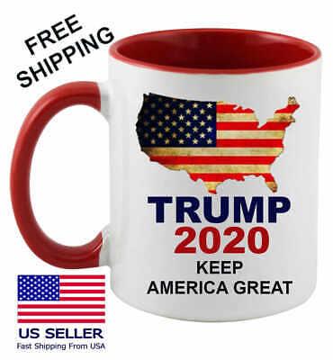 Keep America Great Trump 2020 Mug USA Donald Gift Flag American