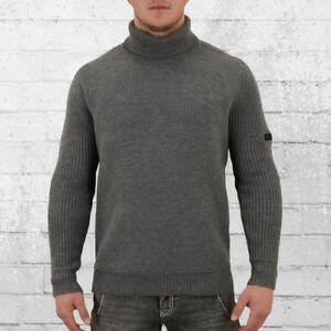 wholesale dealer 91d7c d01e4 Details zu Religion Herren Rollkragen-Pullover Super Roll grau  Strickpullover Pulli