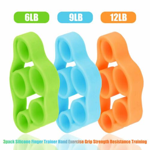 3xFinger Handtrainer Stärkungs Handgelenk Unterarm Grip Trainer Resistance Band