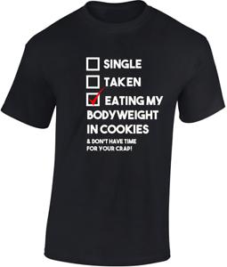 CHE-MANGIA-My-peso-corporeo-in-Cookies-T-Shirt-REGALO-DIVERTENTE