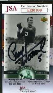 Paul-Hornung-2005-Upper-Deck-Jsa-Coa-Hand-Signed-Authentic-Autograph