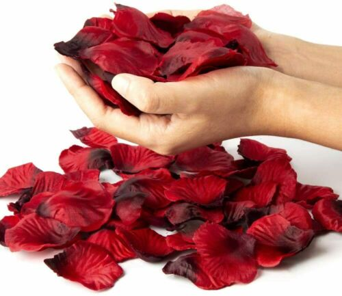 2500 RED SILK ROSE PETALS FLOWER TABLE DECORATION CONFETTI WEDDING PARTY