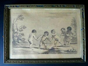 Gravure-cherubins-Bartolozzi-1727-1815-Cherubs-engraving-putti-italian-XVIII