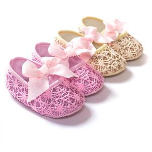 Infant Toddler Baby Girls Soft Sole Prewalker Crib Shoes