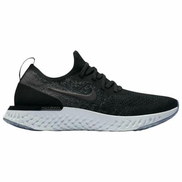 nike running epic react flyknit trainers in black