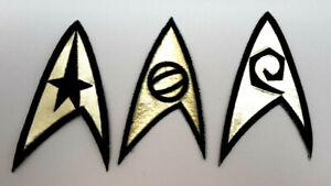 Deluxe-Star-Trek-Classique-Unifrom-Patch-Set-3-Command-Science-Ingenierie