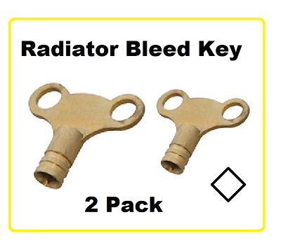 2 x RADIATOR BLEED KEY RAD KEY BLEED AIR OUT OF HEATERS HEATING SQUARE KEY