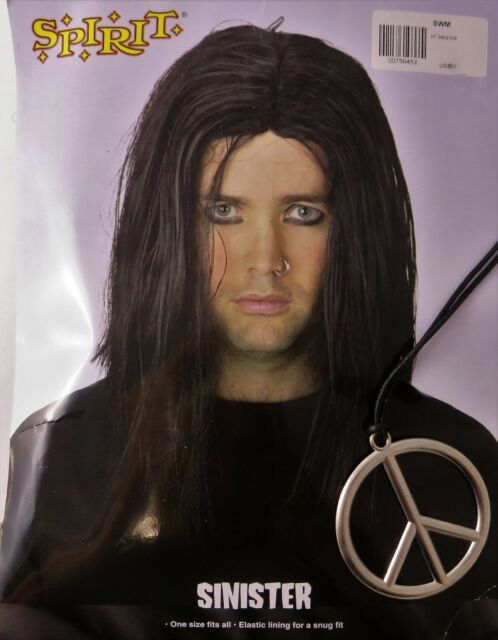 f15f36641 Costume Accessories SINISTER WIG By Spirit Halloween + Headband & Peace  Necklace