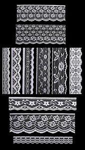 db93c1f7d526 Antique White DIY Net Rachel Lace Ribbon Floral Pattern Trimming ...