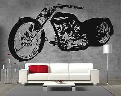 Harley Davidson Low Rider SOA Sons Of Anarchy Chopper Vinyl Sticker Wall Art