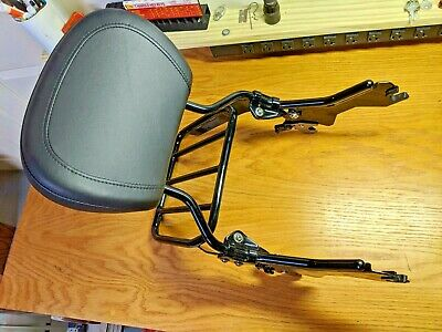 WSays Chrome Standard Height Passenger Sissy Bar Backrest Pad for Harley Softail Sport Glide Low Rider S FLSB FXLR FXLRS