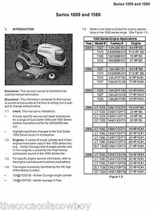 cub cadet 1000 1500 series service manual lt1042 1045 1046 1050 1018 rh ebay ie LT1042 Tires LT1042 Mower Deck
