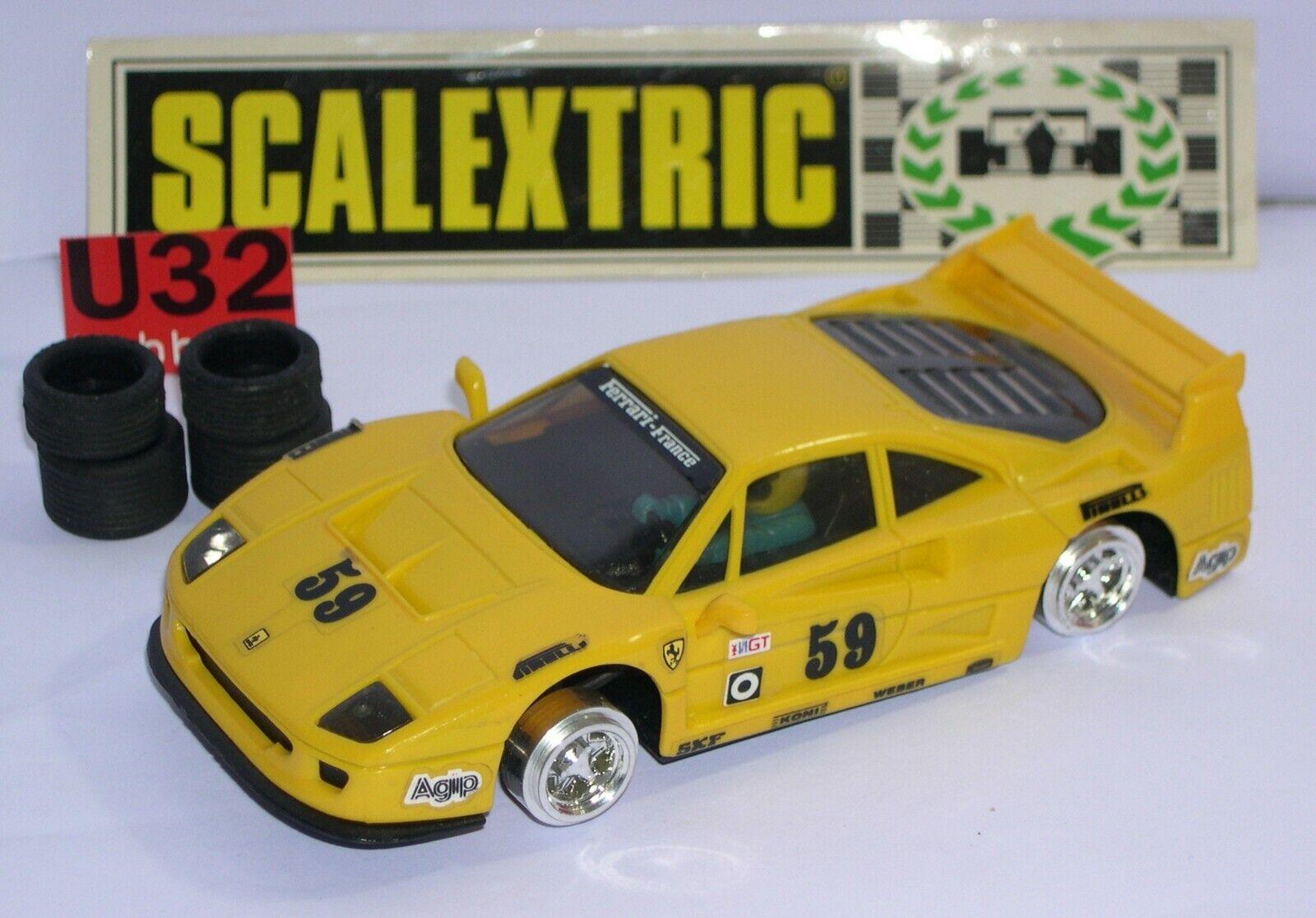 SCALEXTRIC EXIN 8052 FERRARI F40  59 jaune EXCELENTE CONDICION