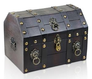 brynnberg holztruhe schatzkiste loewenkopf schatztruhe. Black Bedroom Furniture Sets. Home Design Ideas