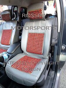 i-TO-FIT-A-SAAB-95-CAR-SEAT-COVERS-MASSAGE-BEADED-CUSHION-GREY