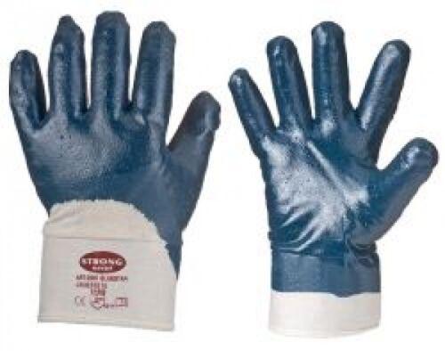Bau Handschuh Blauer Nitril Arbeitshandschuh  Stulpe 1-144 Paar Gr.10,11 EN388 G