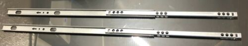 2 IKEA DRAWER RAIL ROLLER SLIDE  for Kullen Dresser with 2 Screws # 104065