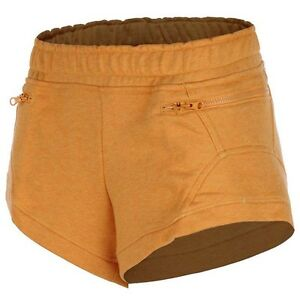 Adidas-by-Stella-Mccartney-Yo-Knit-Shorts-Trousers-Women-039-s-Fitness-New-Orange