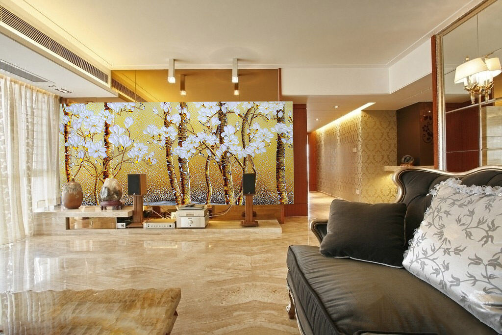 3D Weiß Flowers Tree Paint 51Wall Paper Wall Print Decal Wall AJ WALLPAPER CA