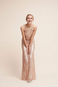 5fd14f7860a Image is loading BRAND-NEW-Rose-Gold-Sequined-Alana-Dress-BHLDN-