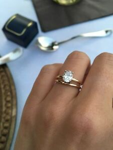 Image Is Loading 2 CT Oval Cut Diamond Solitaire Engagement Bridal