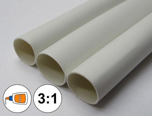 "1 FOOT 1//2/"" White Heat Shrink Tube 3:1 Dual Wall Adhesive Glue Marine//to 0.5/"""