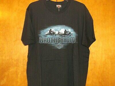 "Harley-Davidson Men/'s 2XL Black /""Brotherhood/"" nite Ride NEW Shirt"