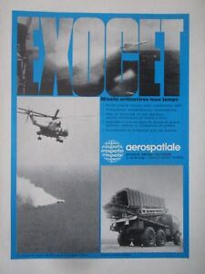10/74 Pub Aerospatiale Tir Missile Am 39 Super Frelon Mm38 Mm40 Exocet French Ad Kwxa7re6-07231332-117233867