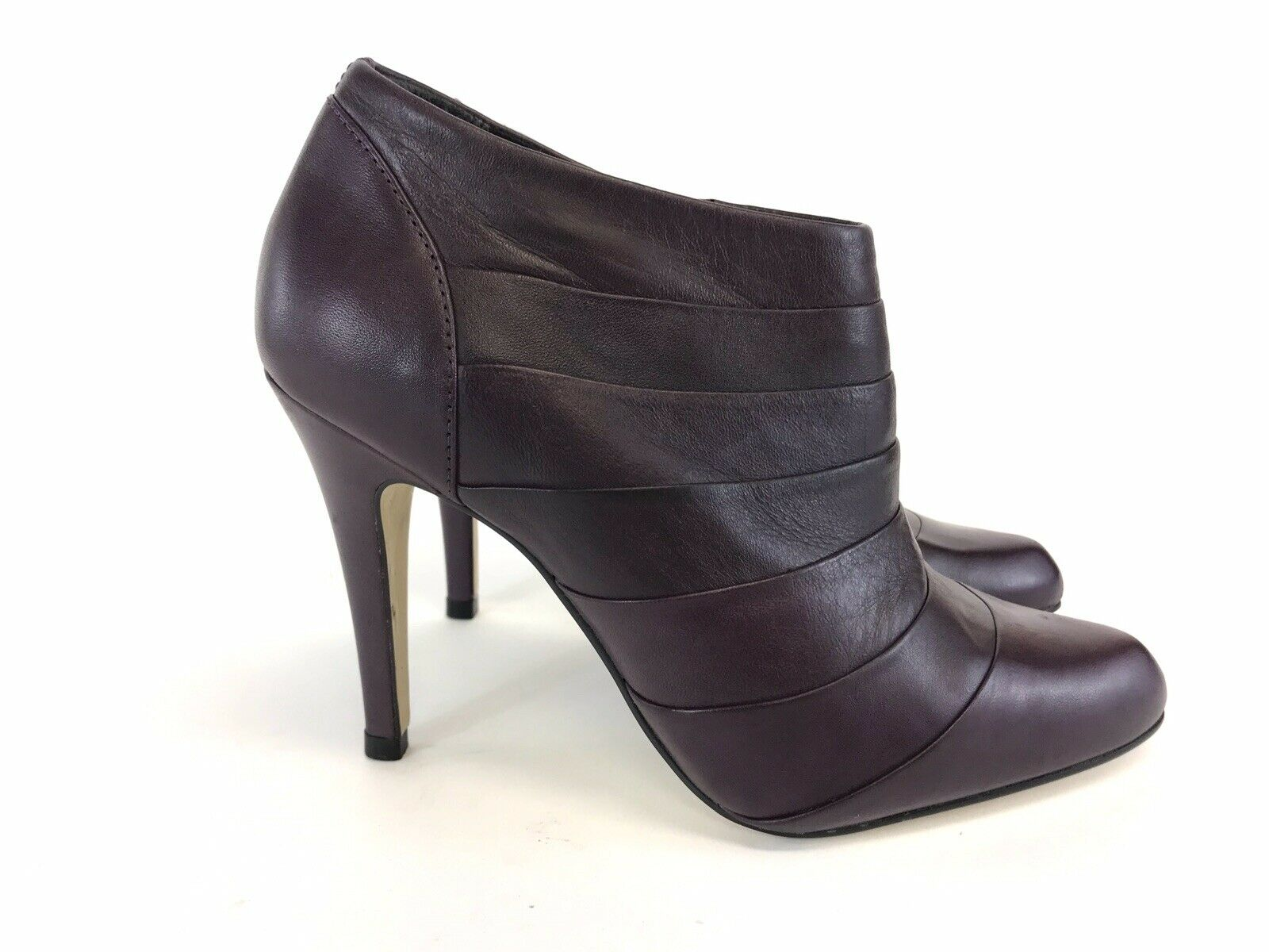 Faith Ladies Purple Leather Ankle Zip Up On Side High Heels shoes Sz UK3 EUR36
