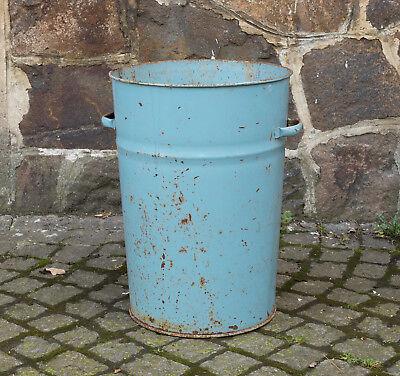 Abfalleimer Tonne Aus Metall Großer Blauer Blech KÜbel Mülleimer Futtertonne Dinge FüR Die Menschen Bequem Machen