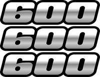 Quad Atv Black 600 Decals Stickers 4x4 Grizzly Graphics Sticker 4x2 Chrome Ss