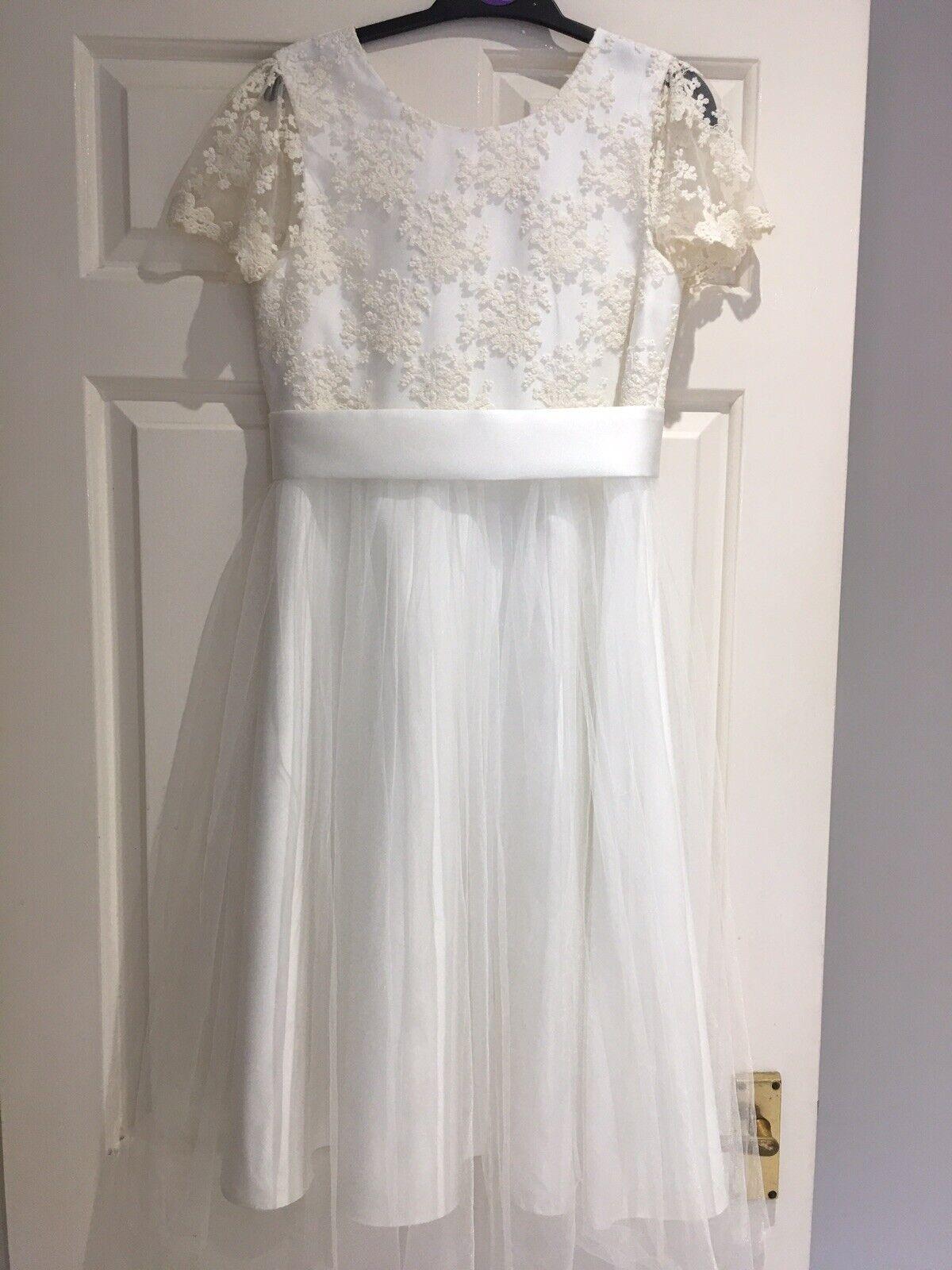 John Lewis Ivory Girls Bridesmaid Dress