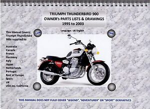 thunderbird 900 parts manual, all bikes (95-03), a4 wire bound, a