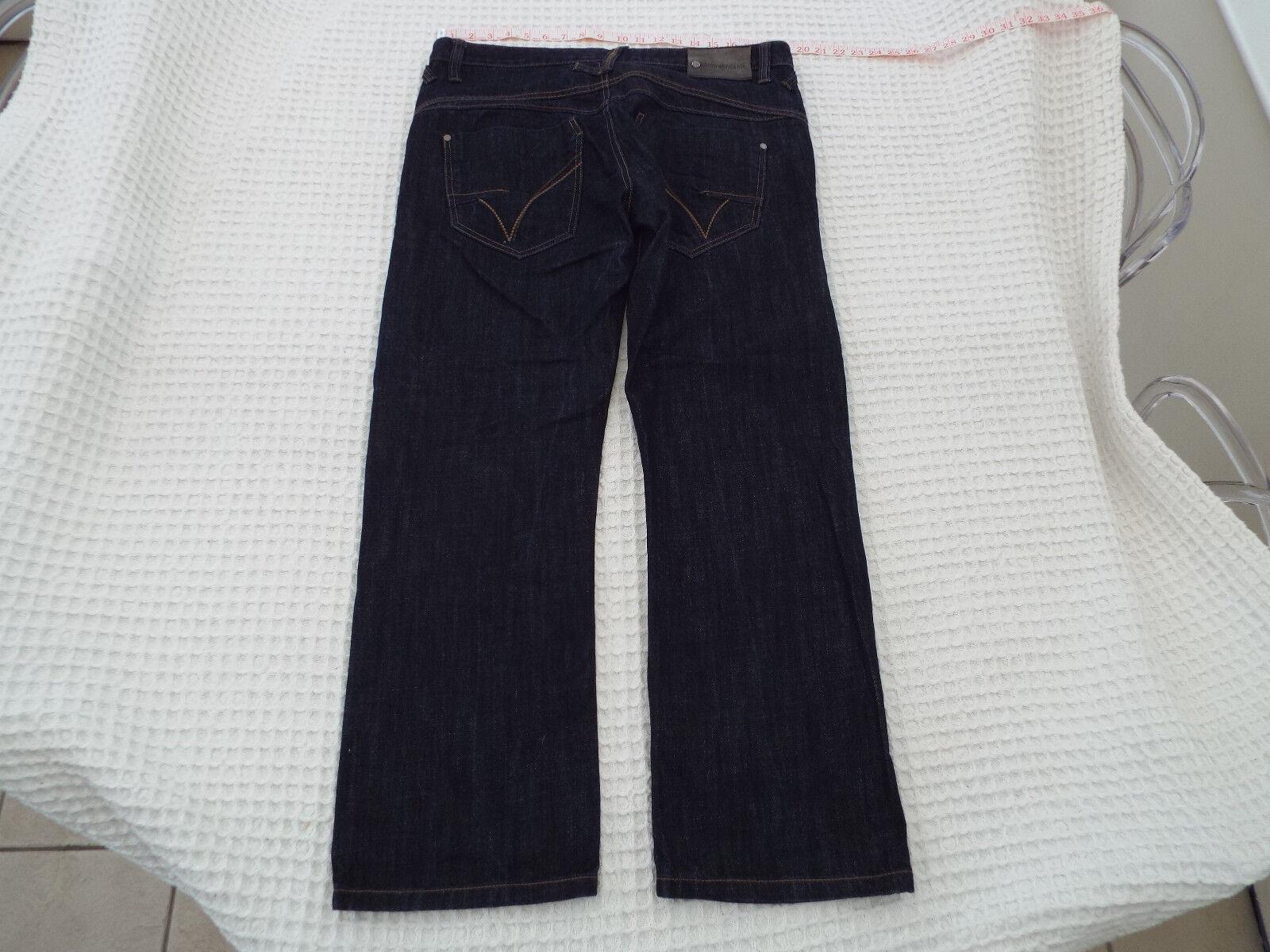MISH MASH Mens Dark Denim Jeans  Size W36-38 L31  RRP -90+