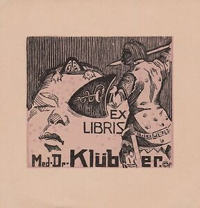 Ex Libris Medécine Oskar Graf Pour Le Dr. Joseph Klüber Bookplate Rmmzgivi-08011825-663177144