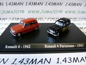 HO10A-DUO-voitures-1-87-HO-universal-Hobbies-RENAULT-4-1962-Parisienne-1963