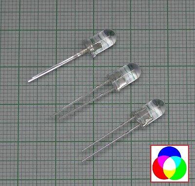S339-50 Stück 3mm RGB LEDs schneller Lichtwechsel Blinken Rainbow Flash