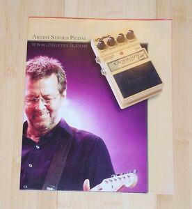 2005 * Digitech Catalogue/poster * Eric Clapton-afficher Le Titre D'origine à Vendre
