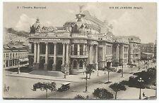 POSTCARD-BRAZIL-RIO DE JANEIRO-PTD. Theatro Municipal.