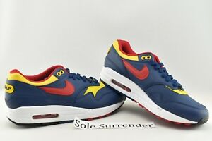 Details about Nike Air Max 1 Premium Snow Beach CHOOSE SIZE 875844 403 Navy Yellow Red White