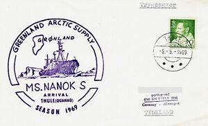 Polarpost Grönland:  Greenland Arctic Supply - MS NANOK S - Thule/Quanaq - 1969