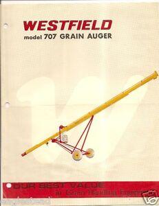 Details about Farm Equipment Brochure - Westfield - 707 Grain Auger  Rosenort Manitoba (F2824)