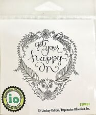 Follow Your Heart Wood Mounted Rubber Stamp IMPRESSION OBSESSION E3870 New