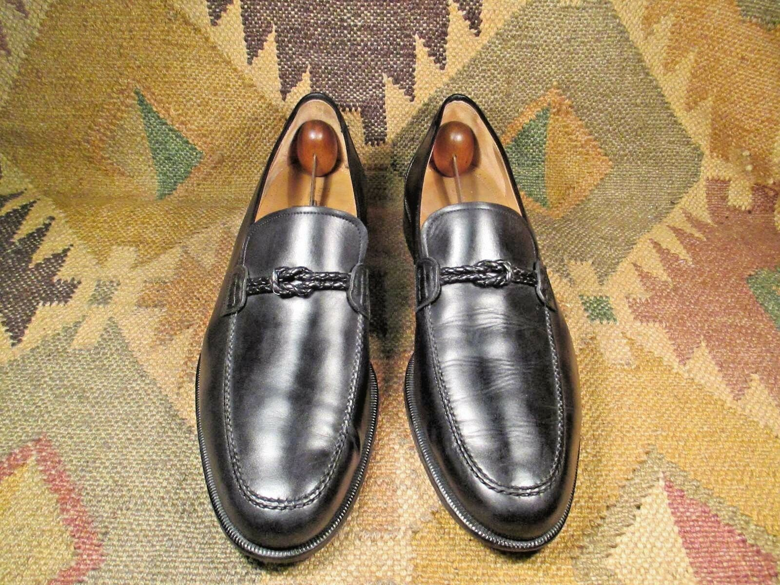 E.T. WRIGHT MASTERS COLLECTION BLACK LEATHER LOAFERS SIZE 13 B MADE IN SPAIN
